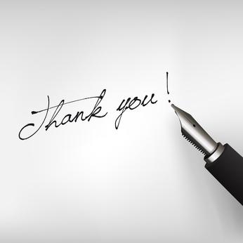 Füllfederhalter mit Schrift Thank you