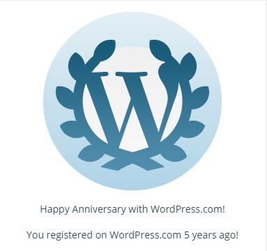 WORDPRESS 5 YEAR ANNIVERSARY